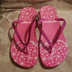 Shoes - Pink Glitter Thongs